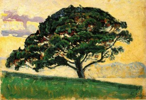 Paul Signac: The Pine, Saint Tropez, 1892-1893. fm Wikimedia Commons, Public Domain.