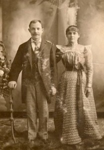 Abraham Green and Rose Braef/Brave- Wedding Picture? About 1884.