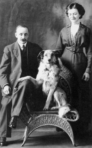 Albert Hunniball and Annie Fletcher, and Their Dog