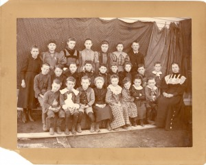 Class photo found in with George Roberts' and Ella V. Daniel's photos and papers.