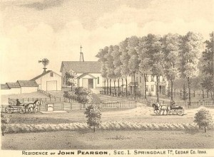 Tipton, Cedar Co. Farm- Engraving