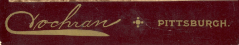 Logo of Cochran [Photography Studio] in Pittsburgh, Pennsylvania, c1895.