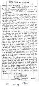 Modern Woodmen Tribute to Israel. I. Cooper. Elmira gazette, 24 Jul 1904.