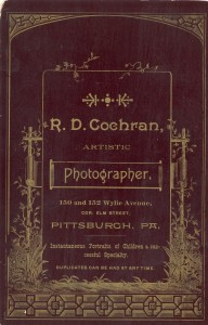 Reverse of photo- Unknown People in Pittsburgh, Pennsylvania.