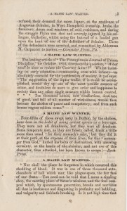 A Maine Law Wanted, c1852, Page 3 [click to enlarge]