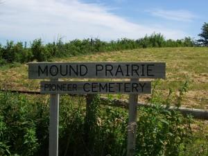 Mound Prairie Cemetery Marker in Jasper Co., Iowa