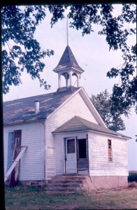 Schoolhouse attended by the children of George and Ella Daniel Roberts. Image taken c1970 and building is now gone. The children attended c1900-1915.