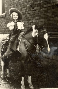 Unknown girl rambling on a horse. Picture found in with Lee family photos.