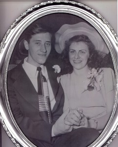 05 June 1948- Wedding picture of Edward A. McMurray and Mary T. Helbling