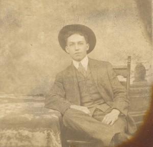 "On reverse: ""C.F. Aiken, OKmulgee Ind. Territory"""