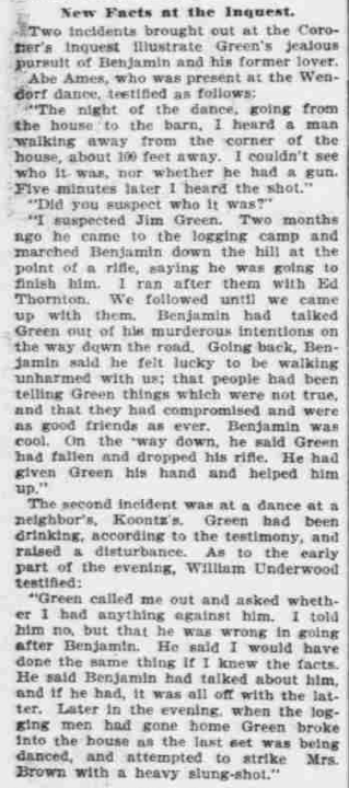 """""""Points to Green,"""" The Morning Oregonian,(Portland, Oregon) March 26, 1901, Volume 41, Number 12,569, Page 4, Columns 1-3, Part 3. Public Domain."""