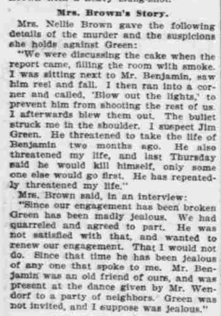 """""""Points to Green,"""" The Morning Oregonian,(Portland, Oregon) March 26, 1901, Volume 41, Number 12,569, Page 4, Columns 1-3, Part 4. Public Domain."""