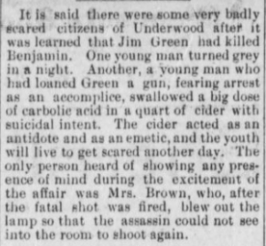 """""""…badly scared citizens…"""" The Hood River Glacier, March 29, 1901, Vol. 12, No. 45, Page 2, Column 2. Public domain.(Click to enlarge.)"""