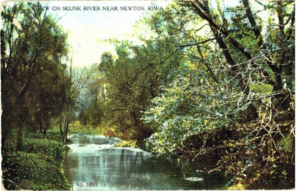 View on Skunk River near Newton, Jasper County, Iowa.