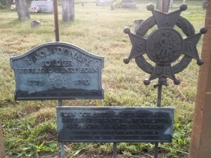 Henry Horn- Gravesite Military Markers. With thanks to Amanda Smith on Find A Grave, 8/22/2011.