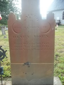 Henry Horn- Headstone, Horn Churchyard, Alum Bank, Bedford, PA. With thanks to Amanda Smith on Find A Grave, 8/22/2011.