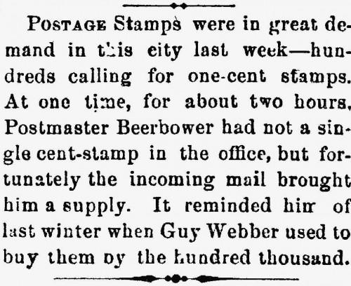 Samuel t. Beerbower, Postamster.