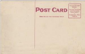 Frances Willard Postcard-Reverse