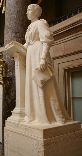 """""""Statue of Frances Willard in the US Capitol"""" by RadioFan at English Wikipedia. Licensed under CC BY-SA 3.0 via Wikimedia Commons - http://commons.wikimedia.org/wiki/File:Statue_of_Frances_Willard_in_the_US_Capitol.JPG#mediaviewer/File:Statue_of_Frances_Willard_in_the_US_Capitol.JPG"""