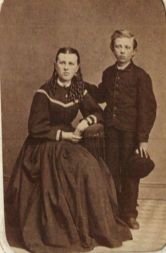 """Mary """"Emma"""" Beerbower and her brother John Eleazer Beerbower"""