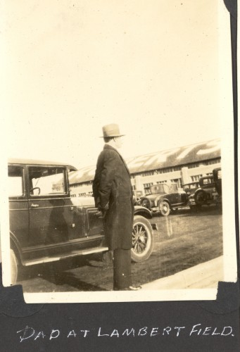 Gerard William Helbling at Lambert Airfield in St. Louis, Missouri. (Click to enlarge.)
