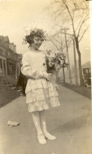 Mary Theresa Helbling In The Procession, April, 1932