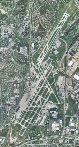 Lambert field from the air