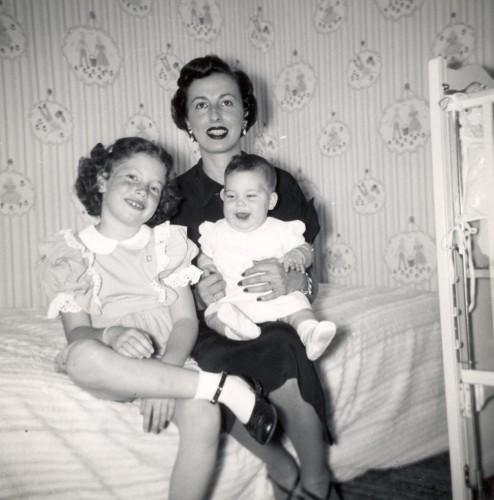 Arline Sobel and daughters.