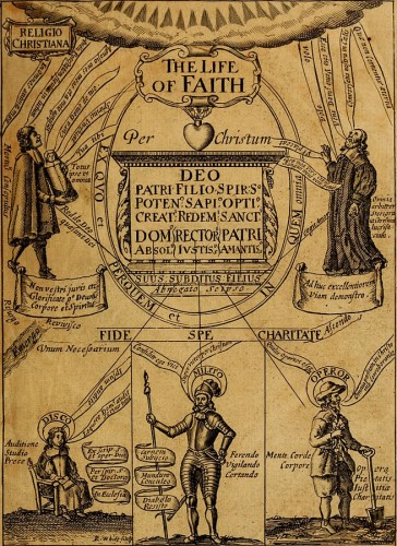 """The Life of Faith in Three Parts,"" 1670 by Richard Baxter(1615-1691) via https://commons.wikimedia.org/wiki/Category:Puritans#/media/File:The_life_of_faith_-_in_three_parts_(1670)_(14780420531).jpg"