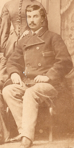 John William Springsteen of Indianapolis, Indiana, c1863? Cropped from family portrait.