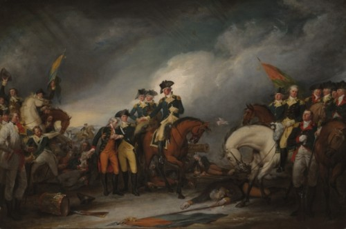 """""""The Capture of the Hessians at Trenton"""" by John Turnbull, via Wikipedia, public domain."""