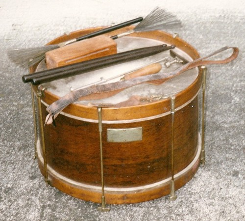 Drum of Abram F. Springsteen, youngest Civil War soldier. Posted with permission of family.