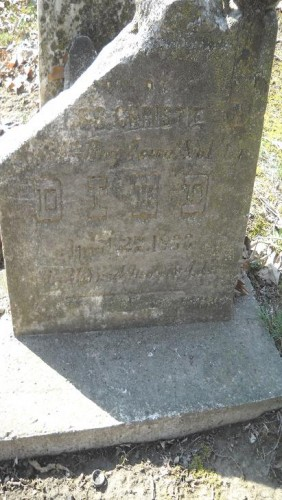 Henry C. Christie, headstone, in Evans Cemetery, Monroe County, Iowa. Posted from Find A Grave with kind permission of photographer.