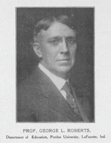 George Lucas Roberts, staff photo in The Educator-Journal, Vol. 10, No. 10, no page no., June 1910 issue.