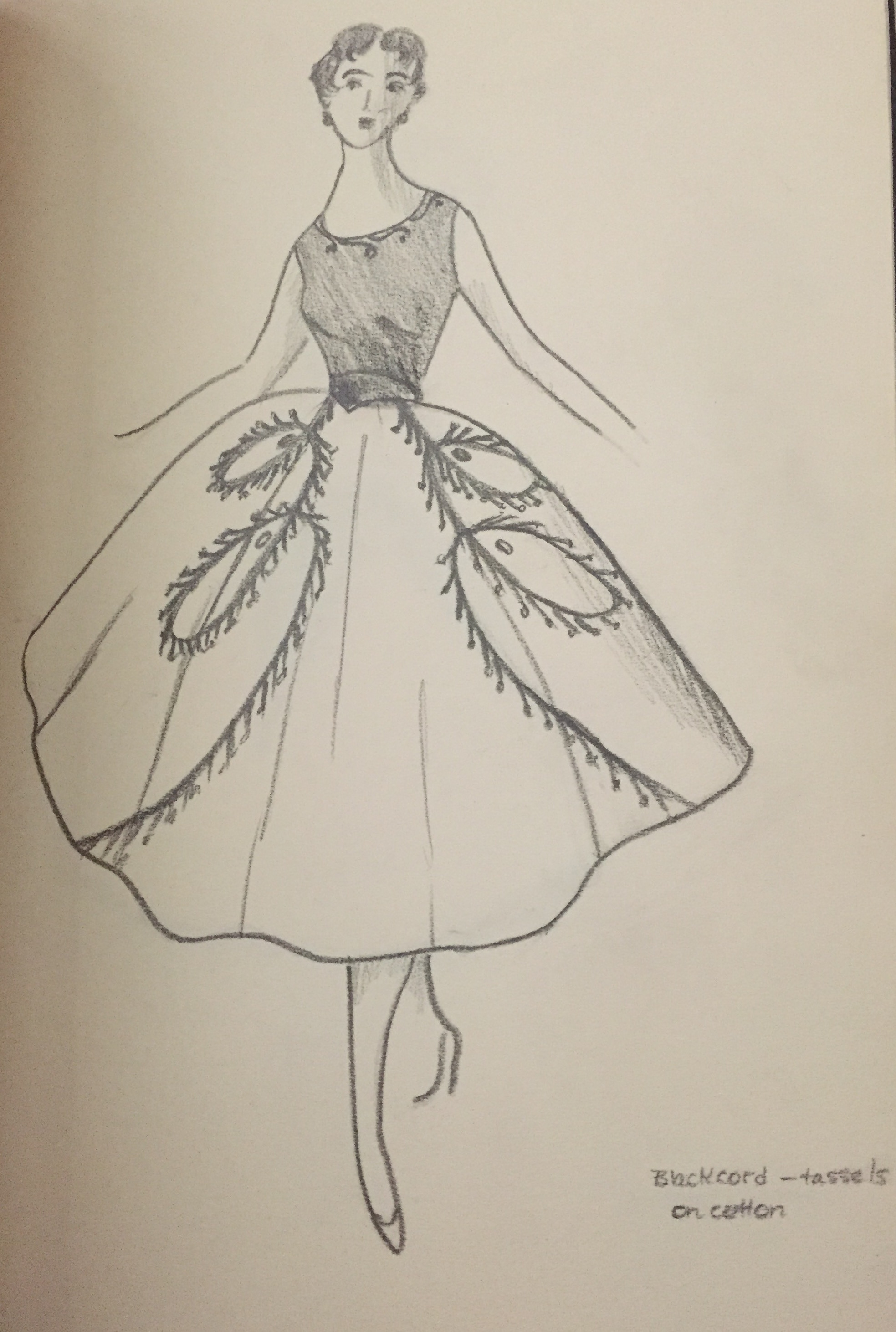 Talented Tuesday Helen Cooper S Fashion Design Drawings C1950s Heritage Ramblings